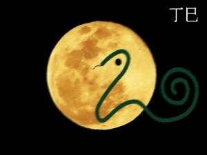 luna llena de la serpiente
